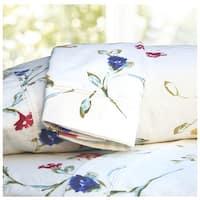 Floral Garden Printed Extra Deep Pocket Flannel Sheet Set or Pillow Cases