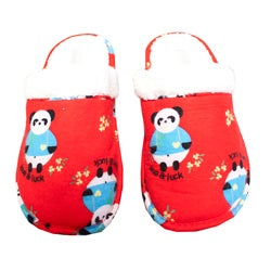 Leisureland Women's Red Panda Flannel Slippers