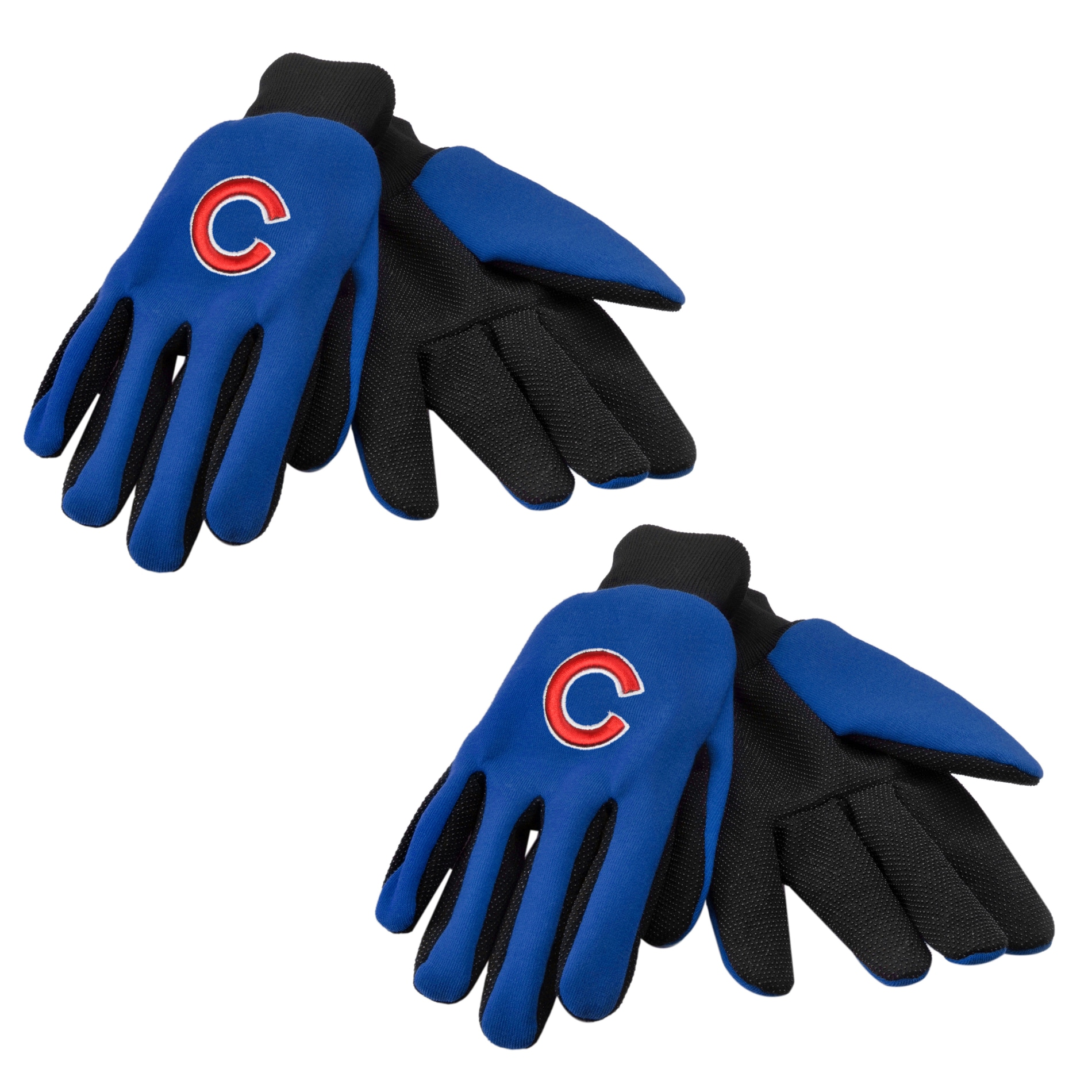 Chicago Cubs Two Tone Work Gloves Set Of 2 Pair Free