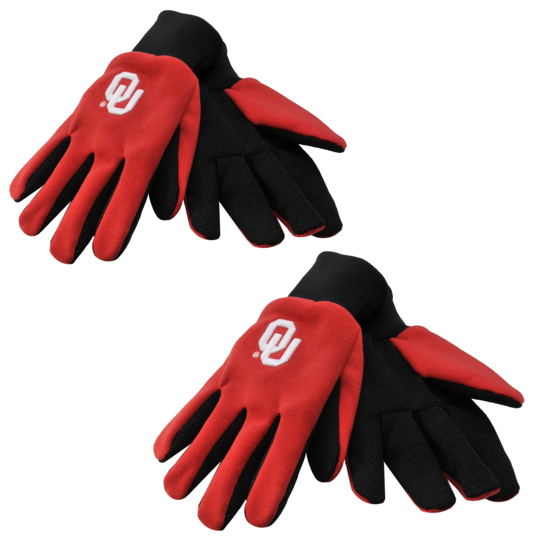 Oklahoma Sooners Two-tone Gloves (Set of 2 Pair)