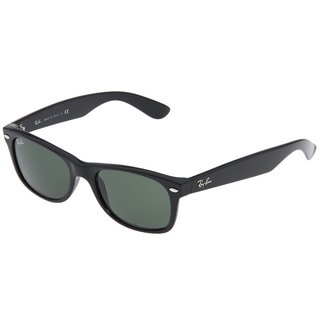 Ray-BanNew Wayfarer RB2132 Unisex Black Frame Green Lens Sunglasses