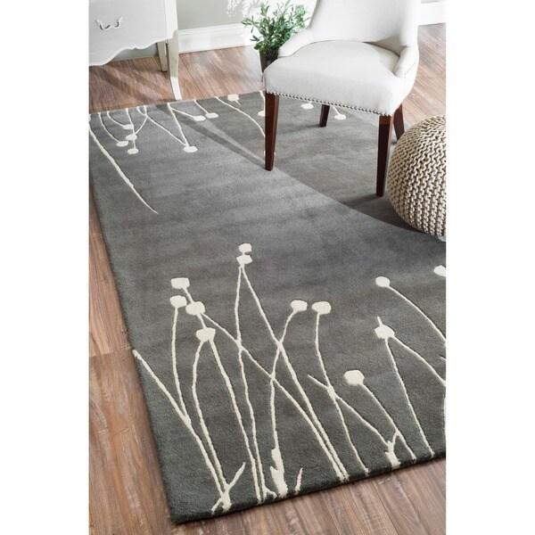 Contemporary Handmade Luna New Zealand Wool Rug (5' x 8')