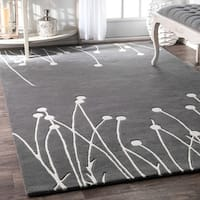 Contemporary Handmade Luna New Zealand Wool Rug - 5' x 8'