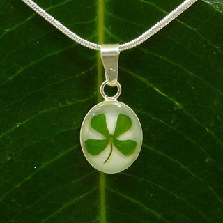 Handmade Exotika Fashion Sterling Silver Four-leaf Clover Necklace (Mexico)