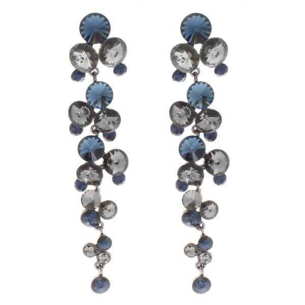 NEXTE Jewelry Silvertone Blue and Grey Dangle Earrings