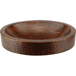 Premier Copper Products Oval Skirted Compact Hammered Copper Vessel Sink|https://ak1.ostkcdn.com/images/products/6393575/P14005391.jpg?_ostk_perf_=percv&impolicy=medium