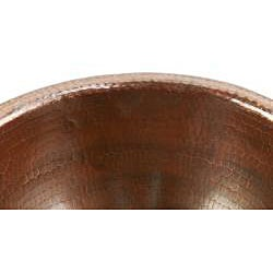 Premier Copper Products Small Round Self Rimming Hammered Copper Sink - Thumbnail 1