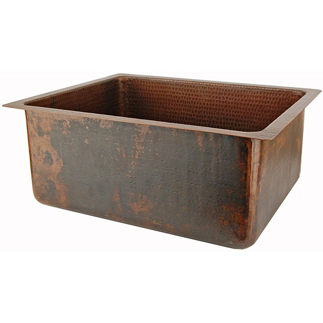 Premier Copper Products Hand-hammered Copper Undermount Single-basin Sink - Thumbnail 0