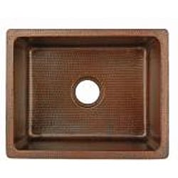 Premier Copper Products Hand-hammered Copper Undermount Single-basin Sink - Thumbnail 1