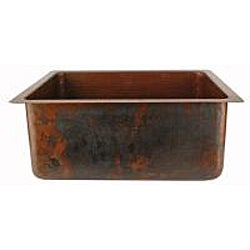Premier Copper Products Hand-hammered Copper Undermount Single-basin Sink - Thumbnail 2