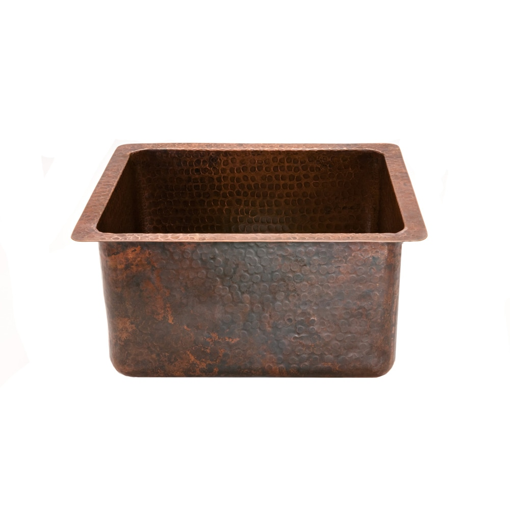 Premier Copper Products Rectangular Gourmet Oil Rubbed Bronze Copper Drop-in Bar Sink