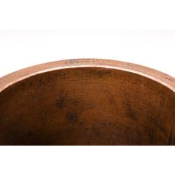 Premier Copper Products Round Champagne Oil Rubbed Bronze Copper Drop-in Bar Sink
