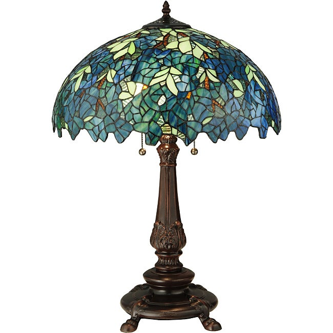 Meyda Tiffany Nightfall Wisteria Table Lamp