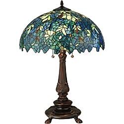 Meyda Tiffany-style Nightfall Wisteria Table Lamp