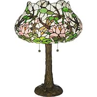Dragonfly Flower Table Lamp