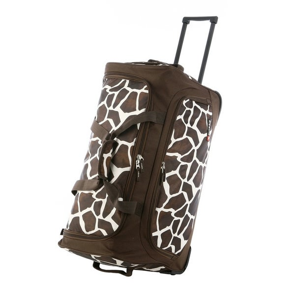 Olympia 'Giraffe' 26-inch Fashion Rolling Upright Duffel Bag
