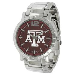 Geneva Platinum Men's Texas A&M Aggies Link Watch