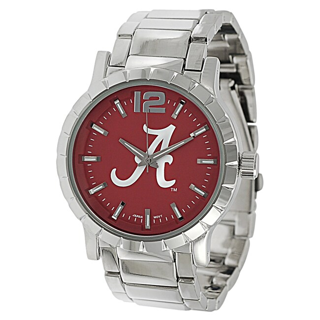 Geneva Platinum Men's Alabama Crimson Tide Link Watch