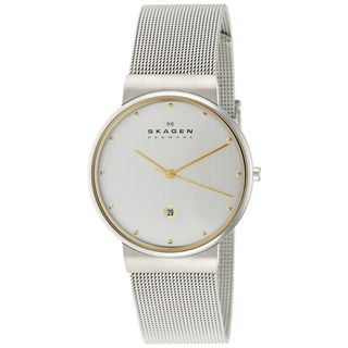 Skagen Men's 355LGSC Two-Tone Stainless Steel Mesh Watch