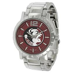 Geneva Platinum Men's Florida State Seminoles Link Watch