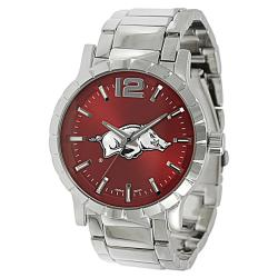 Geneva Platinum Men's Arkansas Razorbacks Link Watch