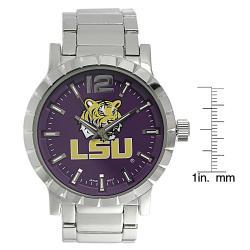 Geneva Platinum Men's LSU Tigers Link Watch