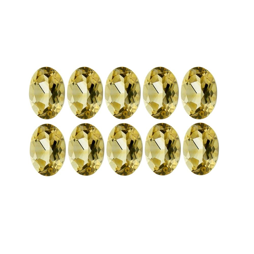 Glitzy Rocks 3x5 Oval-cut Citrine Stones (2 1/5ct TGW) (Set of 10)