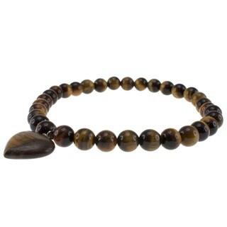 Pearlz Ocean Yellow Tiger's Eye Bead Stretch Bracelet Jewelry for Womens