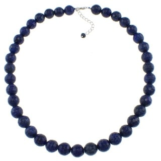 Pearlz Ocean Lapis Lazuli Faceted Bead Necklace