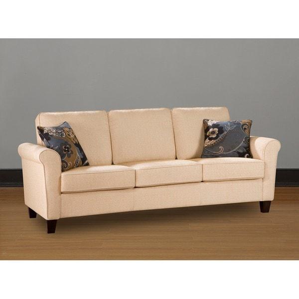 Landon Butter Cream Sofa Free Shipping Today Overstockcom