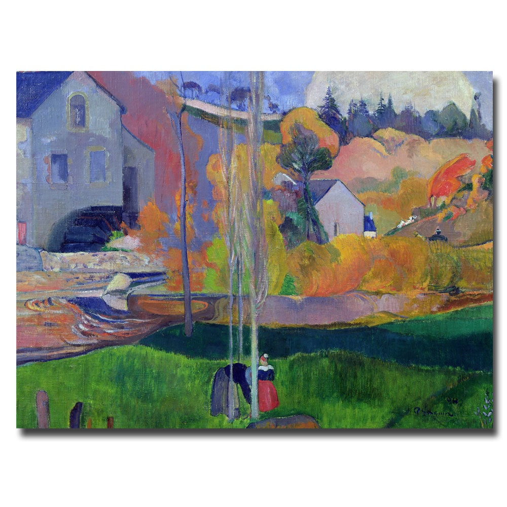 Paul Gauguin 'Brittany Landscape David Mill 1894' Gallery-Wrapped Canvas Art