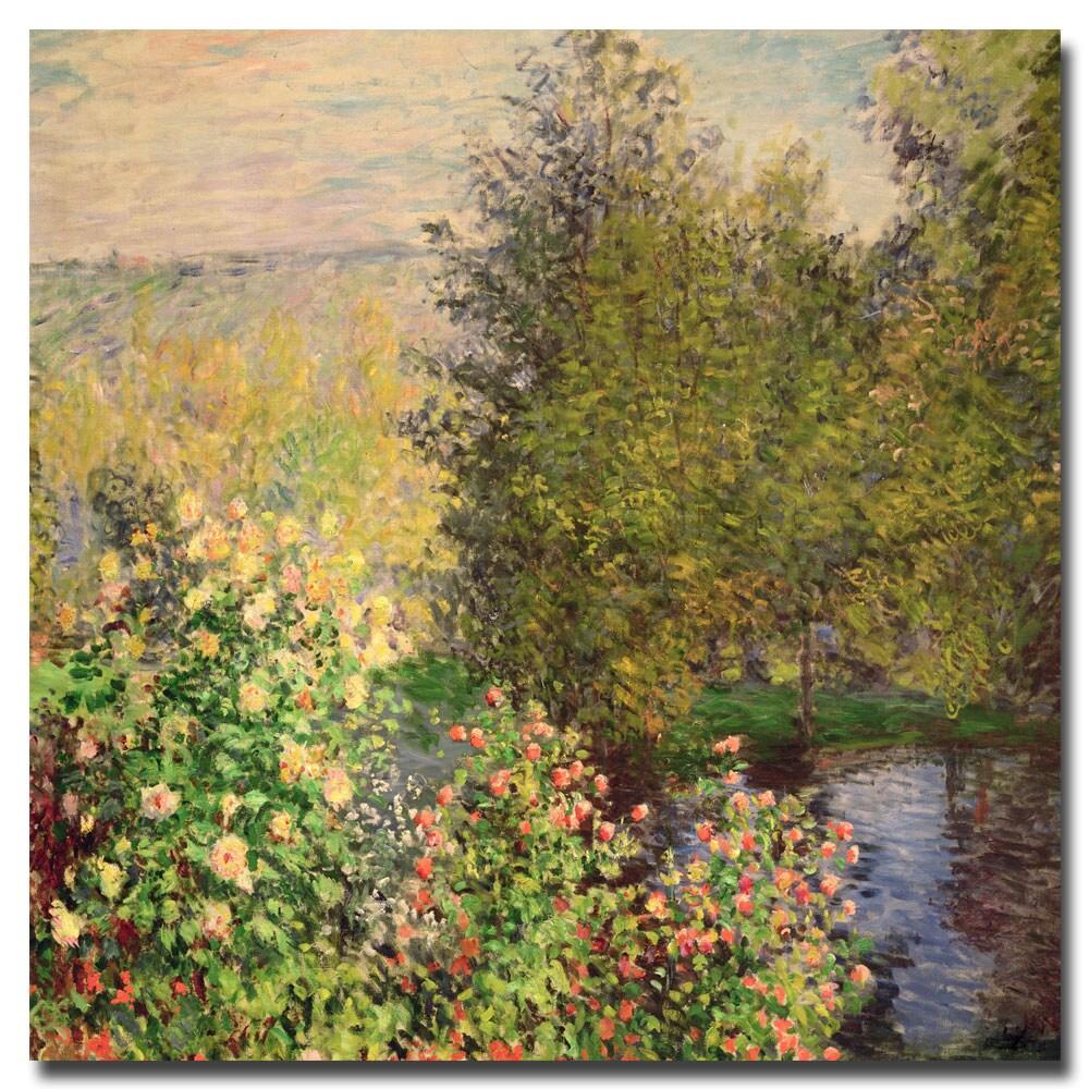 Claude Monet 'Corner of the Garden at Montgeron 1876' 35-inch Canvas Art