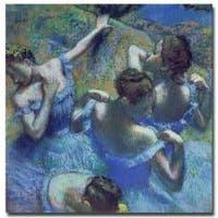 """Edgar Degas 'Blue Dancers 1899' 35"""" x 35"""" Canvas Art"""
