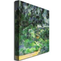 Paul Cezanne 'Blue Landscape, 1903' Canvas Art - Thumbnail 1
