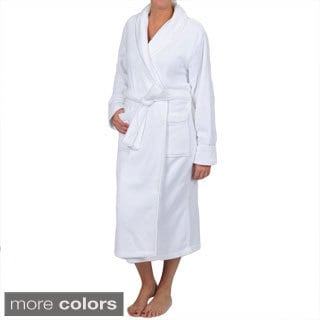 La Cera Women's Plus Size Satin Trim Robe