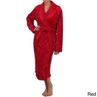 La Cera Women's Plus Size Satin Trim Robe (3 options available)