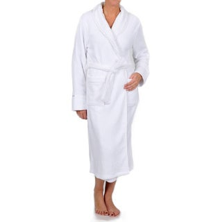 La Cera Women's Satin Trimmed Shawl Collar Spa Robe