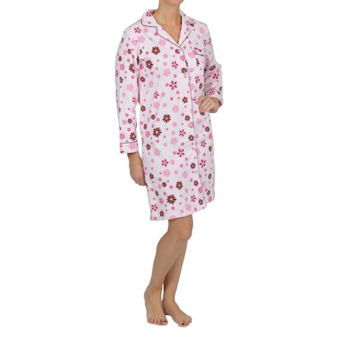 La Cera Women's Plus Size Pink Nightgown