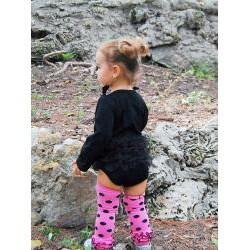 Mia Belle Baby Little Black Dress Princess Romper