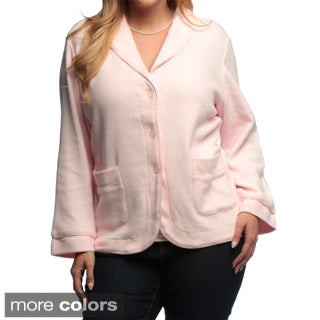 La Cera Women's Plus Size Three-button Shawl Collar Jacket