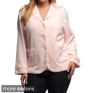 La Cera Women's Plus Size Three-button Shawl Collar Jacket|https://ak1.ostkcdn.com/images/products/6394435/La-Cera-Womens-Plus-Size-Three-button-Shawl-Collar-Jacket-P14006004.jpg?impolicy=medium
