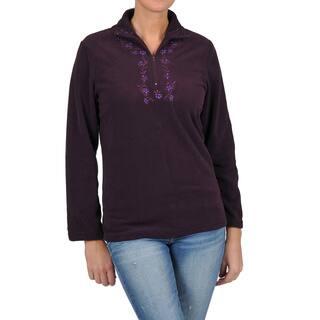 La Cera Women's Long Sleeve Half-zip Pullover Fleece Jacket|https://ak1.ostkcdn.com/images/products/6394440/P14006008.jpg?impolicy=medium
