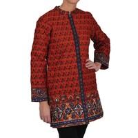 b095143a08d Shop La Cera Women s Black Quilted Mandarin Collar Jacket - Free ...