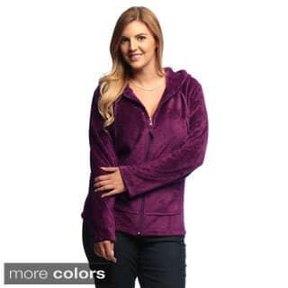 La Cera Women's Plus-Size Luxury Plush Heather Fleece Hooded Jacket https://ak1.ostkcdn.com/images/products/6394465/P14006031.jpg?impolicy=medium