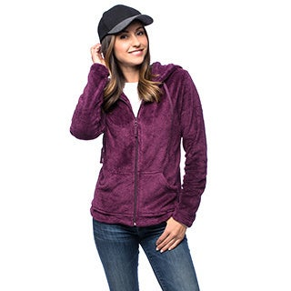La Cera Women's Luxury Plush Heather Hooded Fleece Jacket (More options available)