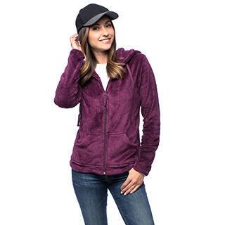 7c2f88461d4 La Cera Women s Luxury Plush Heather Hooded Fleece Jacket