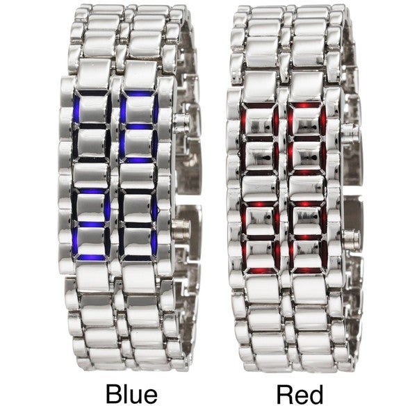 Stainless Steel Women's Lava LED Digital Bracelet Watch