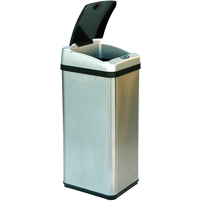 iTouchless 13-gallon Rectangular Extra-wide Stainless Steel Automatic Sensor Trash Can - Thumbnail 0