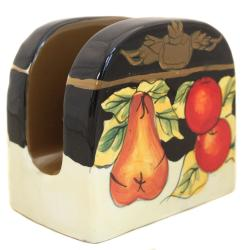Casa Cortes Barcelona Collection Hand-painted Paper Towel and Napkin Holder - Thumbnail 1