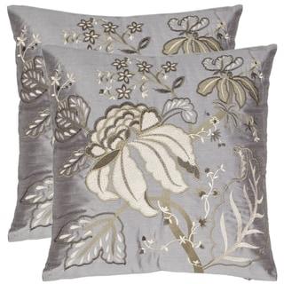 Safavieh Sea Garden 18-inch Blue-grey Decorative Pillows (Set of 2)